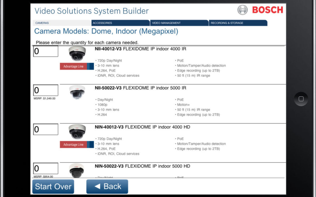 Bosch Video Systems Builder