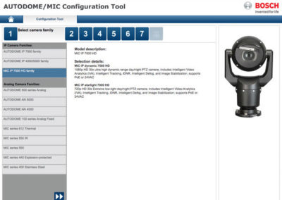 Bosch AUTODOME Configuration Tool