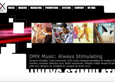 DMX Music Website