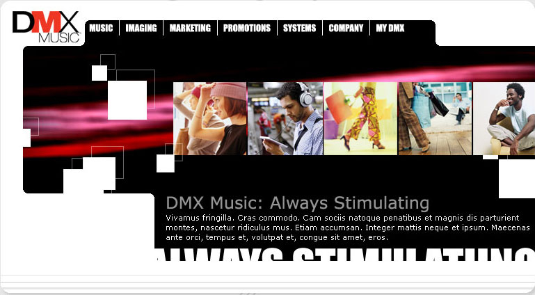 DMX Music Website