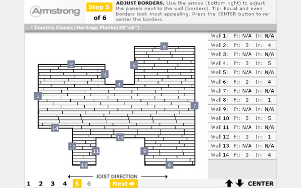 Armstrong Ceilings Material Estimator